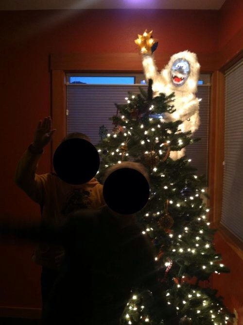 abominable snowman christmas tree topper brilliant i want this for our tree