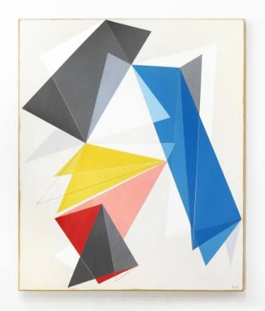 """Confere! Meu Trabalho """"Geometric Sky (2006)"""" foi escolhido para ser destaque na Coleção Pública """"The Shape of Things: New Geometric Abstracts"""" na página inicial Saatchi Art."""