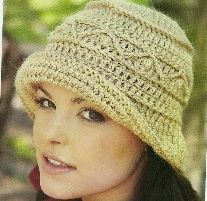 Sombrero a Crochet o Ganchillo | Gorros | Pinterest | Gorros ...