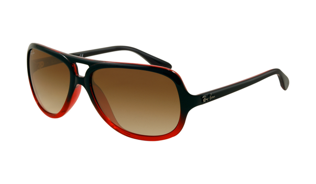 84867ce0563e5 ... new zealand ray ban rb4162 sunglasses black red crystal frame brown  gradient 0e2c1 34f43