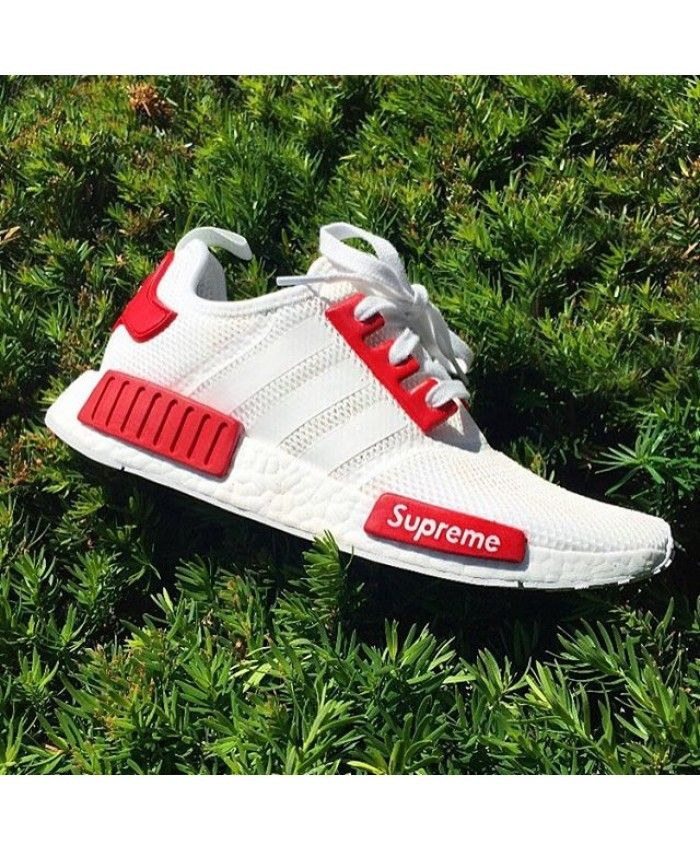 classic styles best website high quality Adidas Nmd R1 Superme Red White trainers | Christmas ...