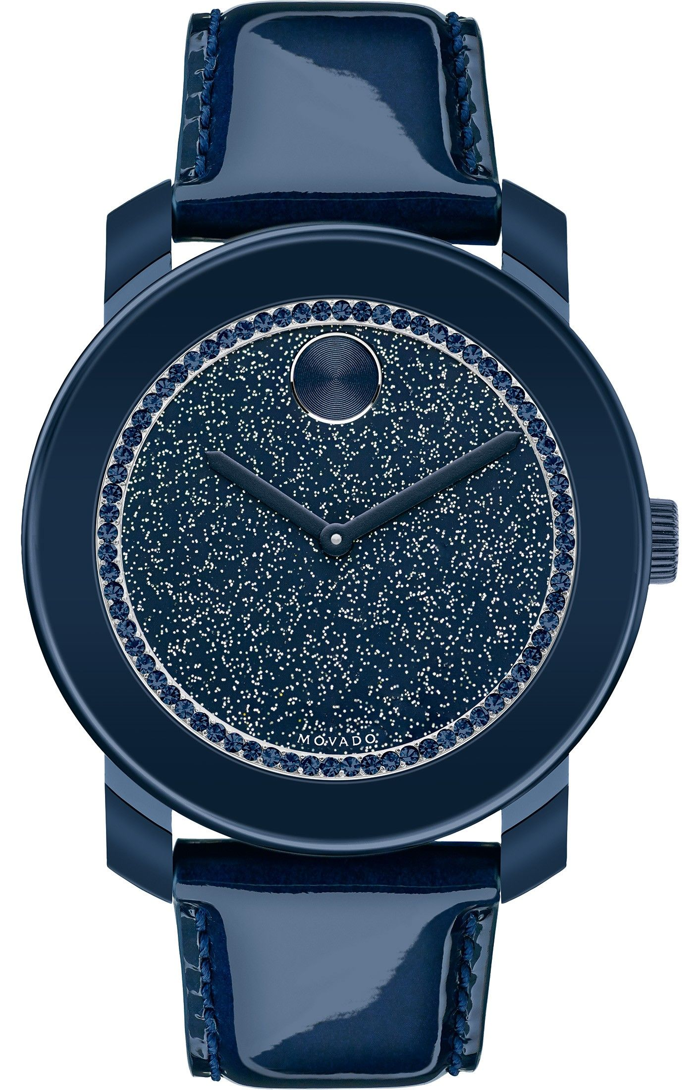 Movado Black//Aluminum Crystal Clock