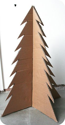 Cardboard Christmas Tree.How To Make A Cardboard Christmas Tree Hoe Maak Je Een