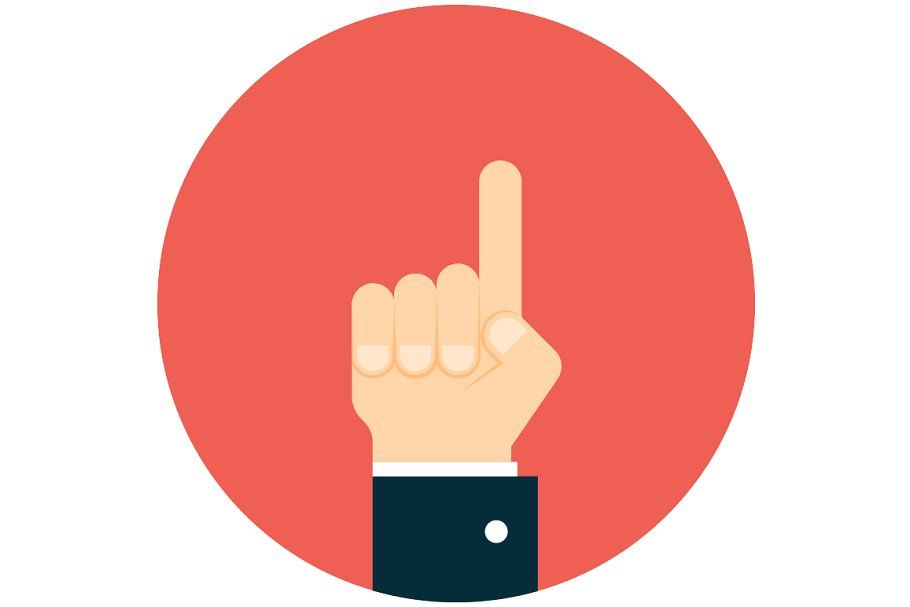 Business Man Hand Pointing Up Pointing Hand Flag Icon Male Hands