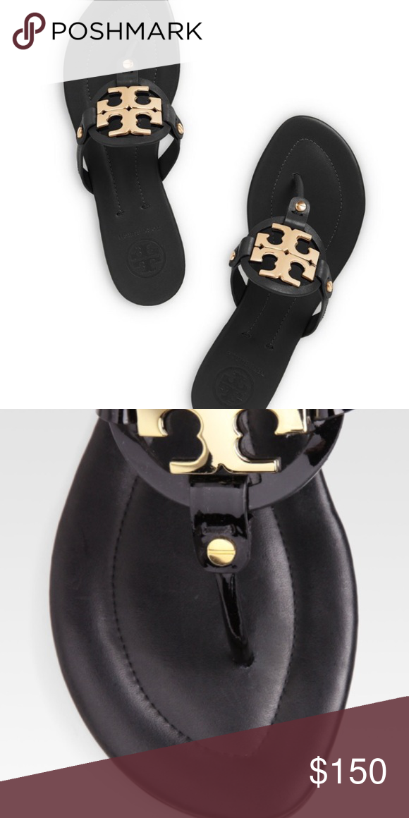 a56c67f7cf64b8 Tory Burch miller flat sandals Good used condition sandals. Goes great  styled up or casual. Comes with box