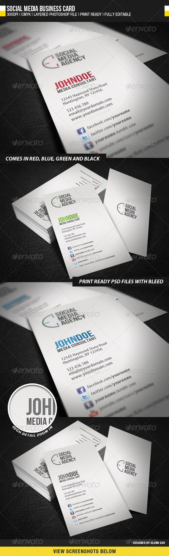 Social Media Business Card | Pinterest | Business cards, Business ...