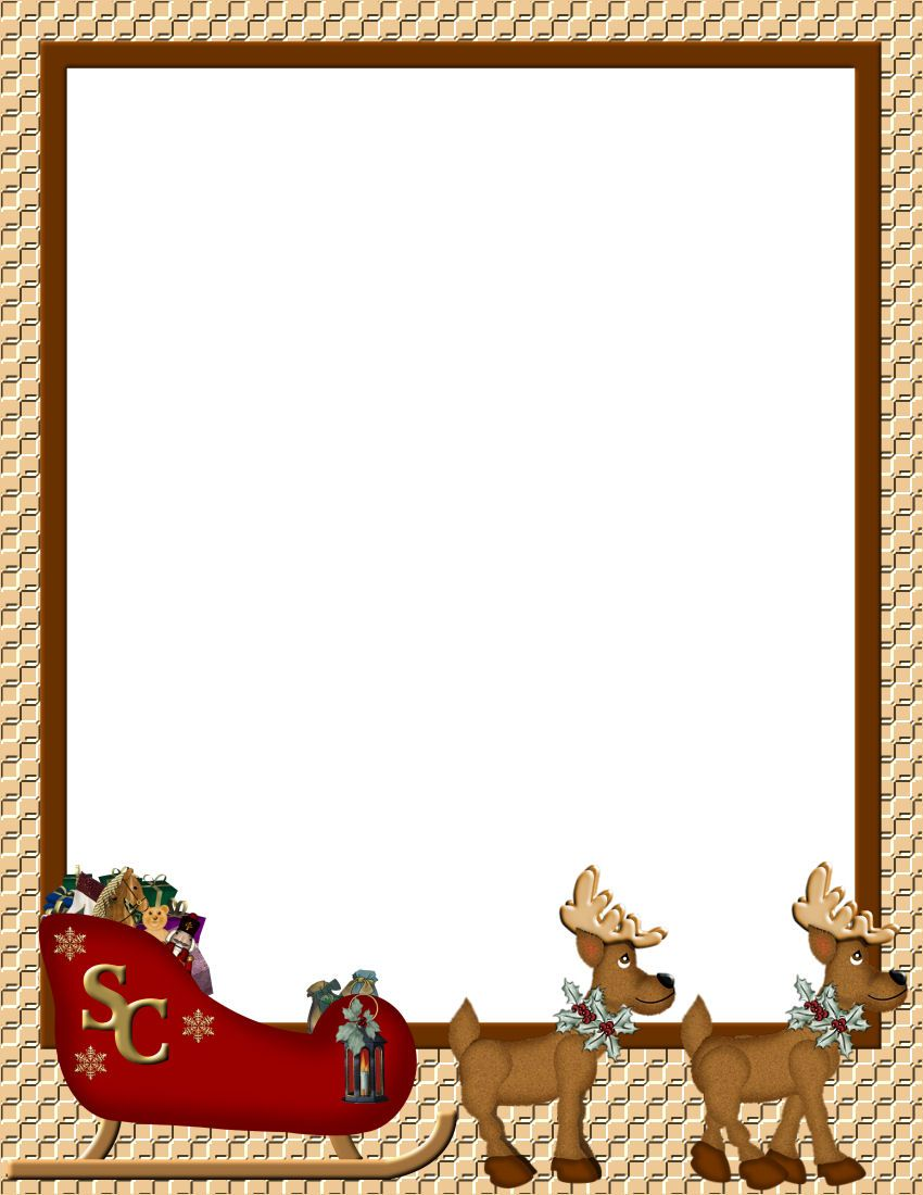 Word Christmas Border Templates Free  Free Xmas Menu Templates