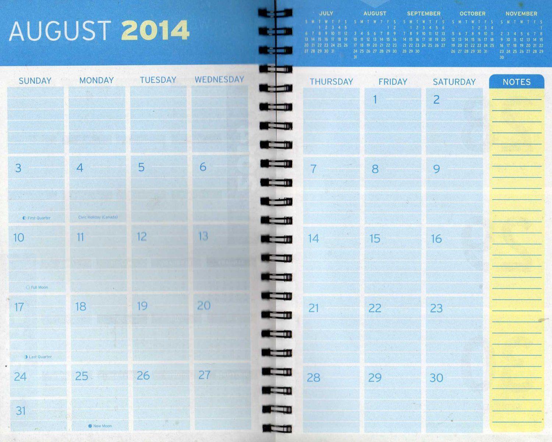 monthly calendar book