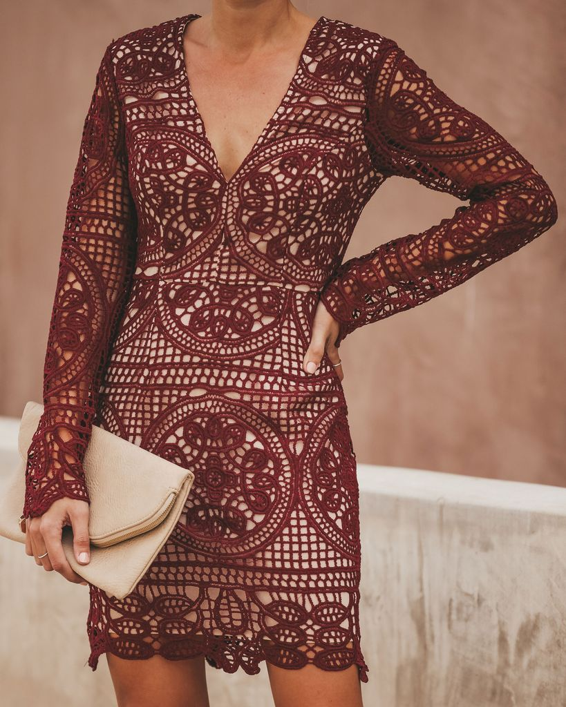 Wine Dine Crochet Lace Dress Wine Dresses Crochet Lace Dress Lace Dress