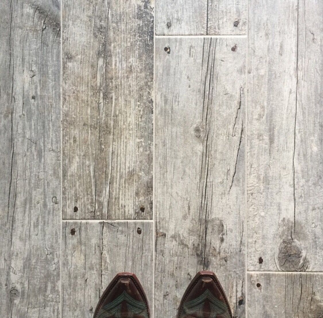 Tile That Looks Like Weathered Barn Wood... LOVE! My Fav Update I