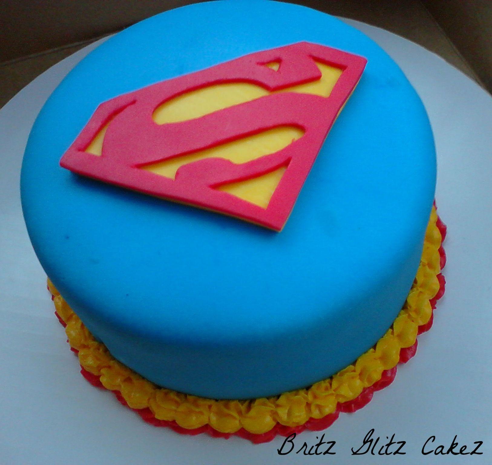 Superman cake!   Cupcake cakes, Superman cakes, Cake