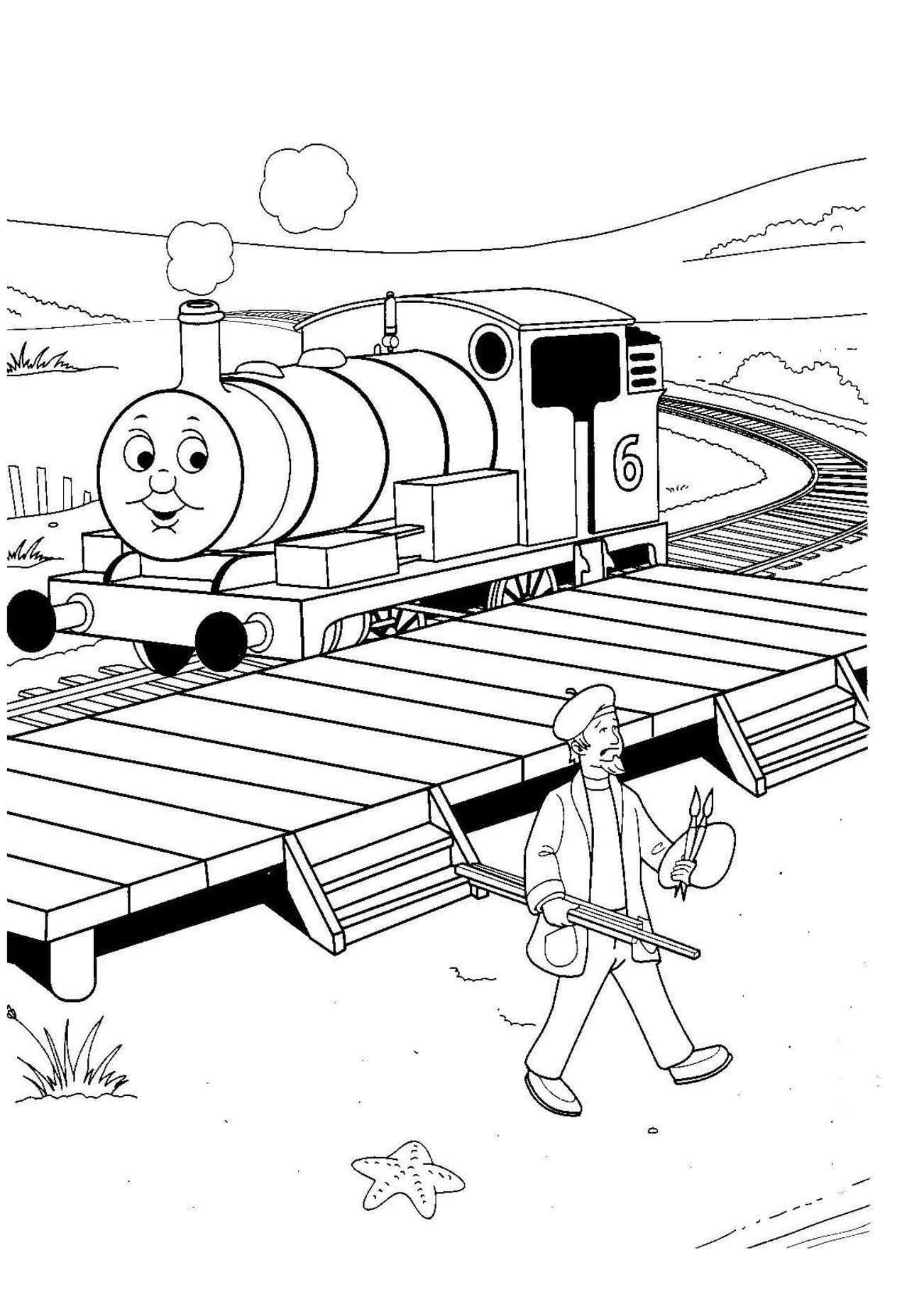 Free Printable Train Coloring Pages For Kids | Thomas the train bday ...