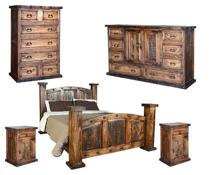 Best Old West Rustic Bedroom Set Rustic Bedroom Sets Rustic 640 x 480