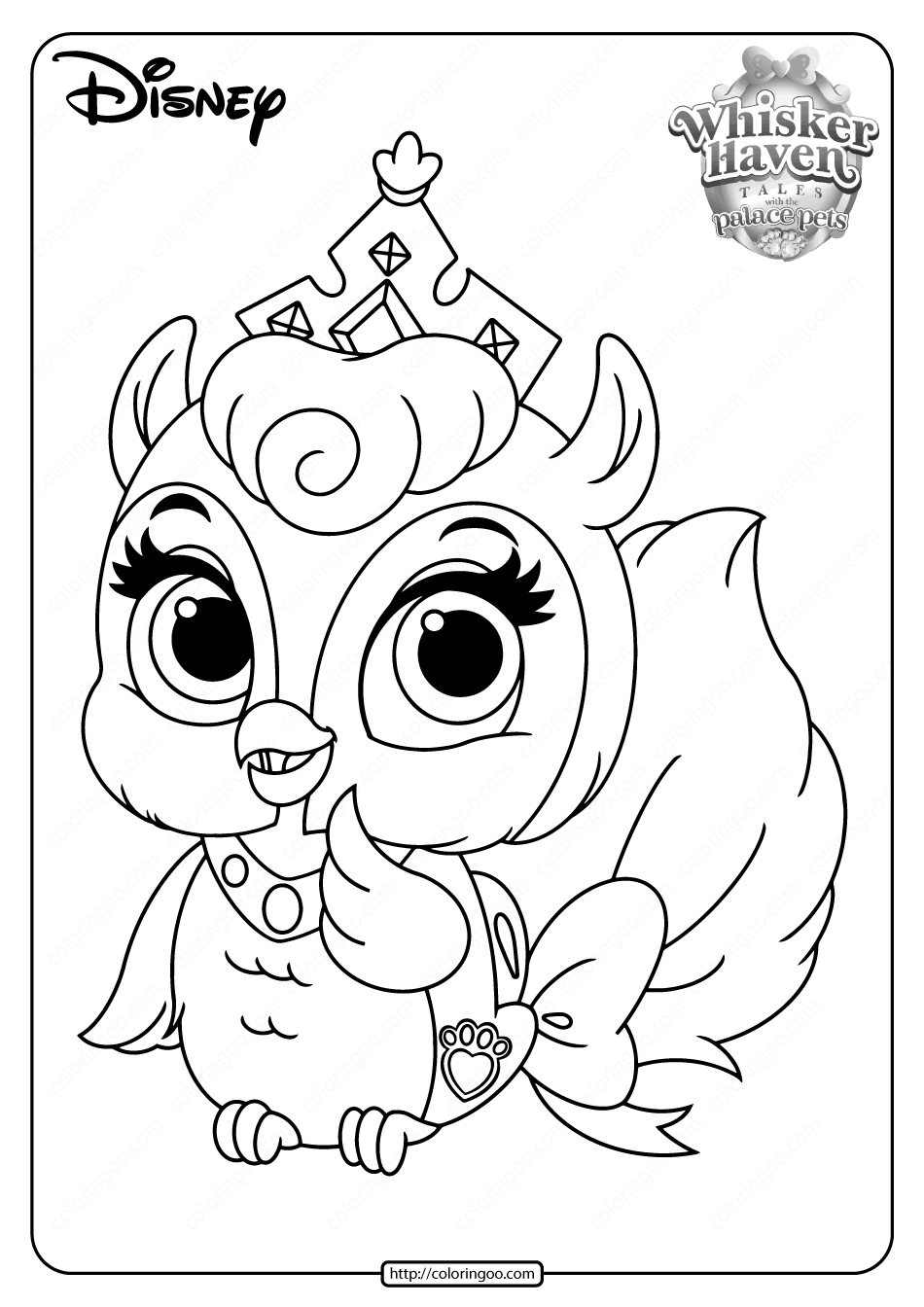 Printable Palace Pets Fern Pdf Coloring Pages In 2020 Puppy Coloring Pages Animal Coloring Pages Palace Pets