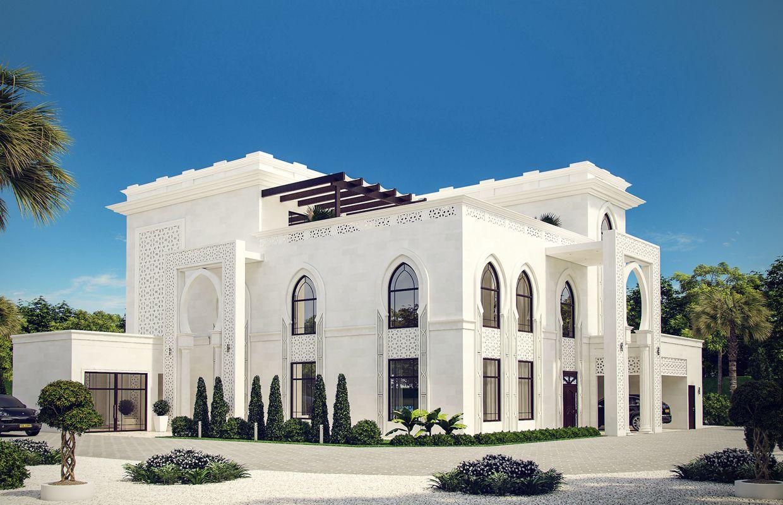 See The Reflection Of The Arabic Islamic Culture In The White Modern Islamic Villa Exterior Design With Islamic Exterior Design Architecture House Villa Design