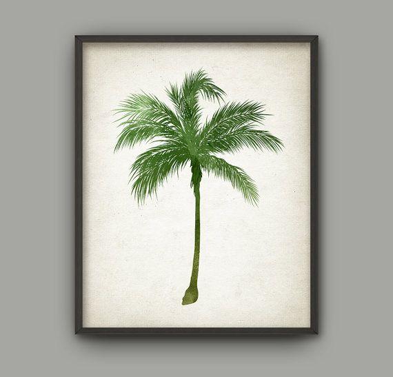 Palm Tree Botanical Wall Art Print Set Of 6 By Quantumprints Tree Art Botanical Wall Art Art Print Set