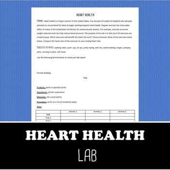 Heart Health Lab | Body Systems | Pinterest