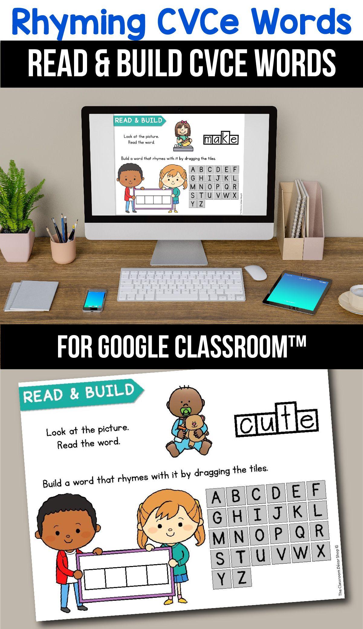Classroom Cvce Rhyming Worksheets Digital Learning