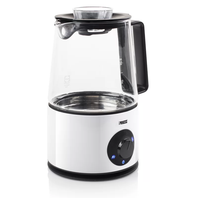 Princess 1.5L Glass Infuser Kettle in White Wayfair.co