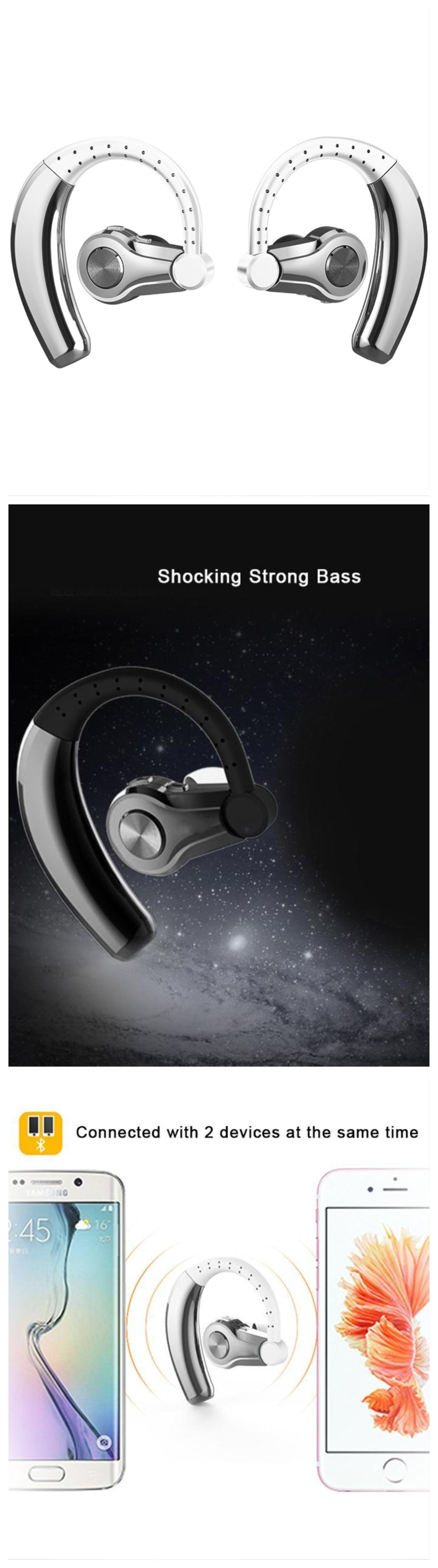 New Wireless Bluetooth Headphones Ear Hooks Earphone With Microphone Ear Headset For Android Ios Windows Bluetooth Headphones Wireless Bluetooth Headphones Wireless Bluetooth