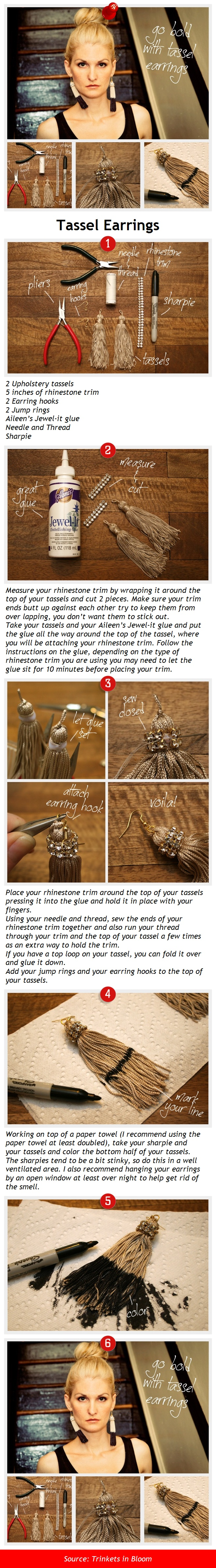 Tassel Earrings via pindemy.com