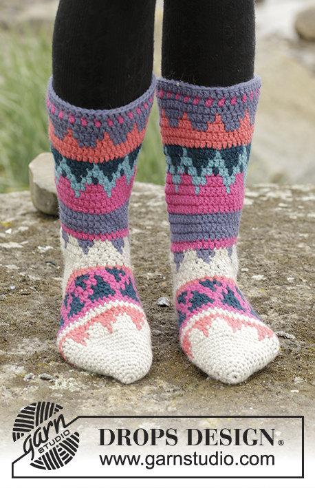 Häkeln Sie bunte Winter Frauen hoch Wolle und Alpaka Socken | häkeln ...