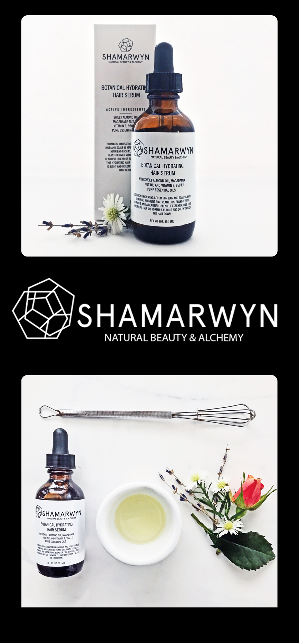 Botanical Hydrating Hair Serum Hair Shine, AntiFrizz