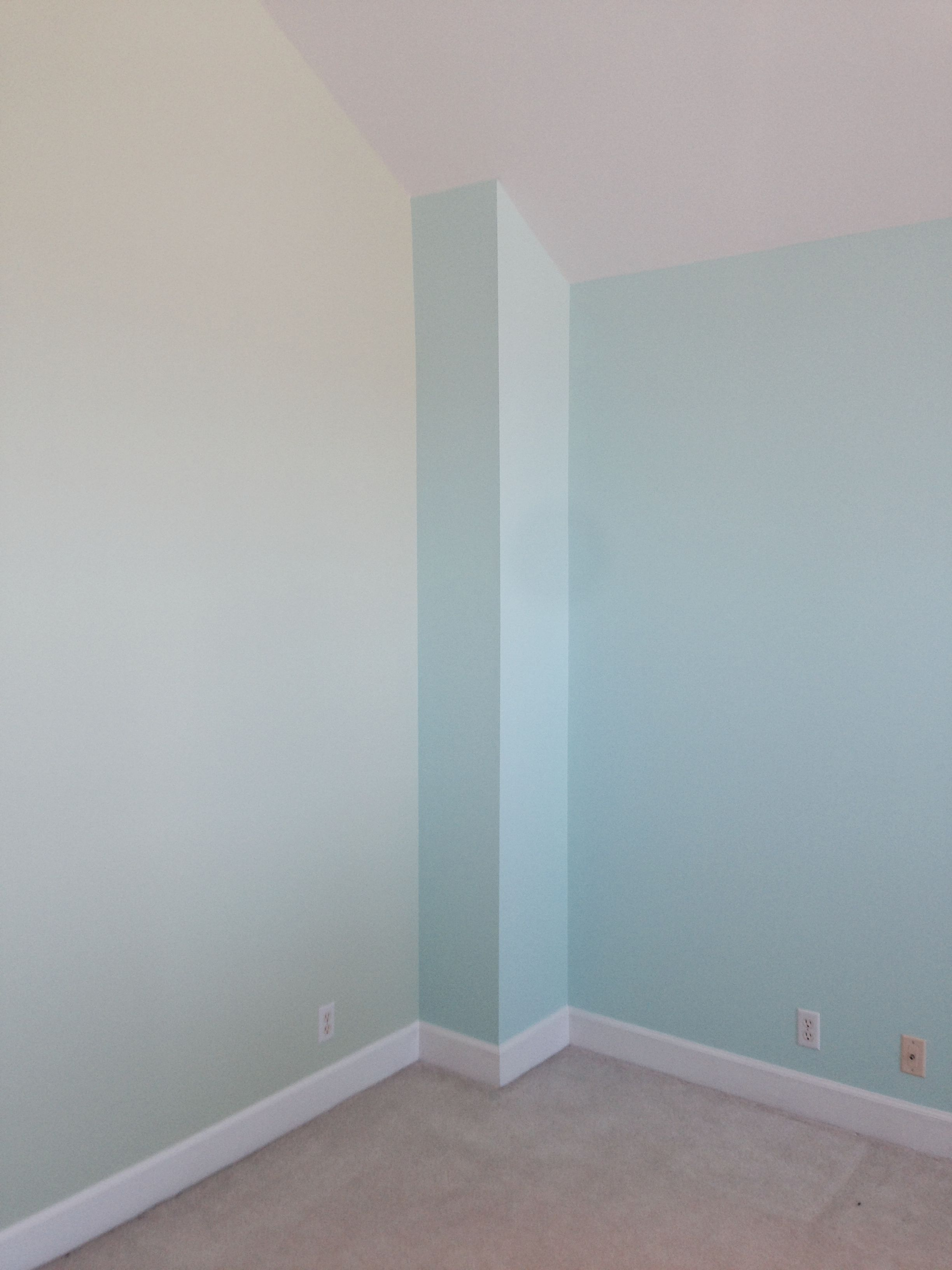 Accent Wall Color Left Sherwin Williams Cuber Right Sea Salt