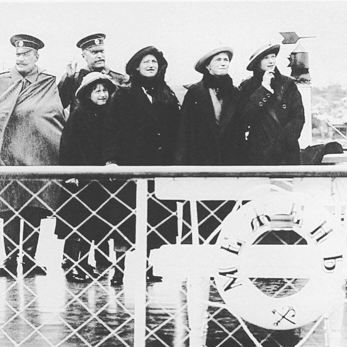 The Russian grand duchesses during a rainy day c. 1913. by historyofromanovs