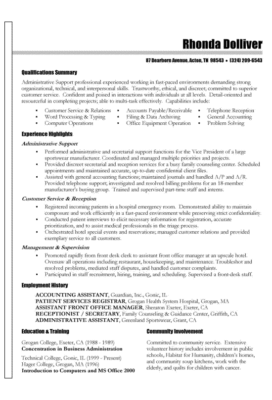 Pin On Professional Resume Examples