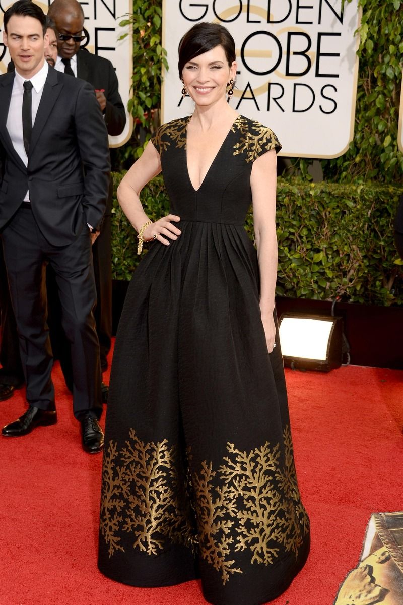Julianna Margulies in Andrew Gn R14 at Golden Globes 2014