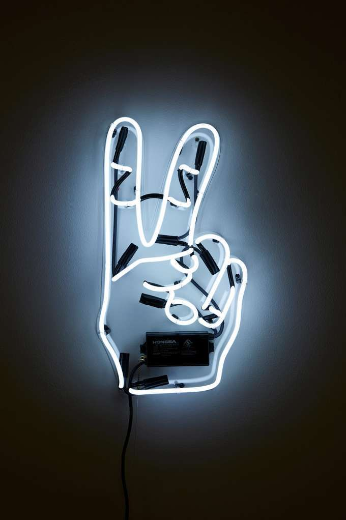 Oliver Gal Artist Co Peace Neon Sign