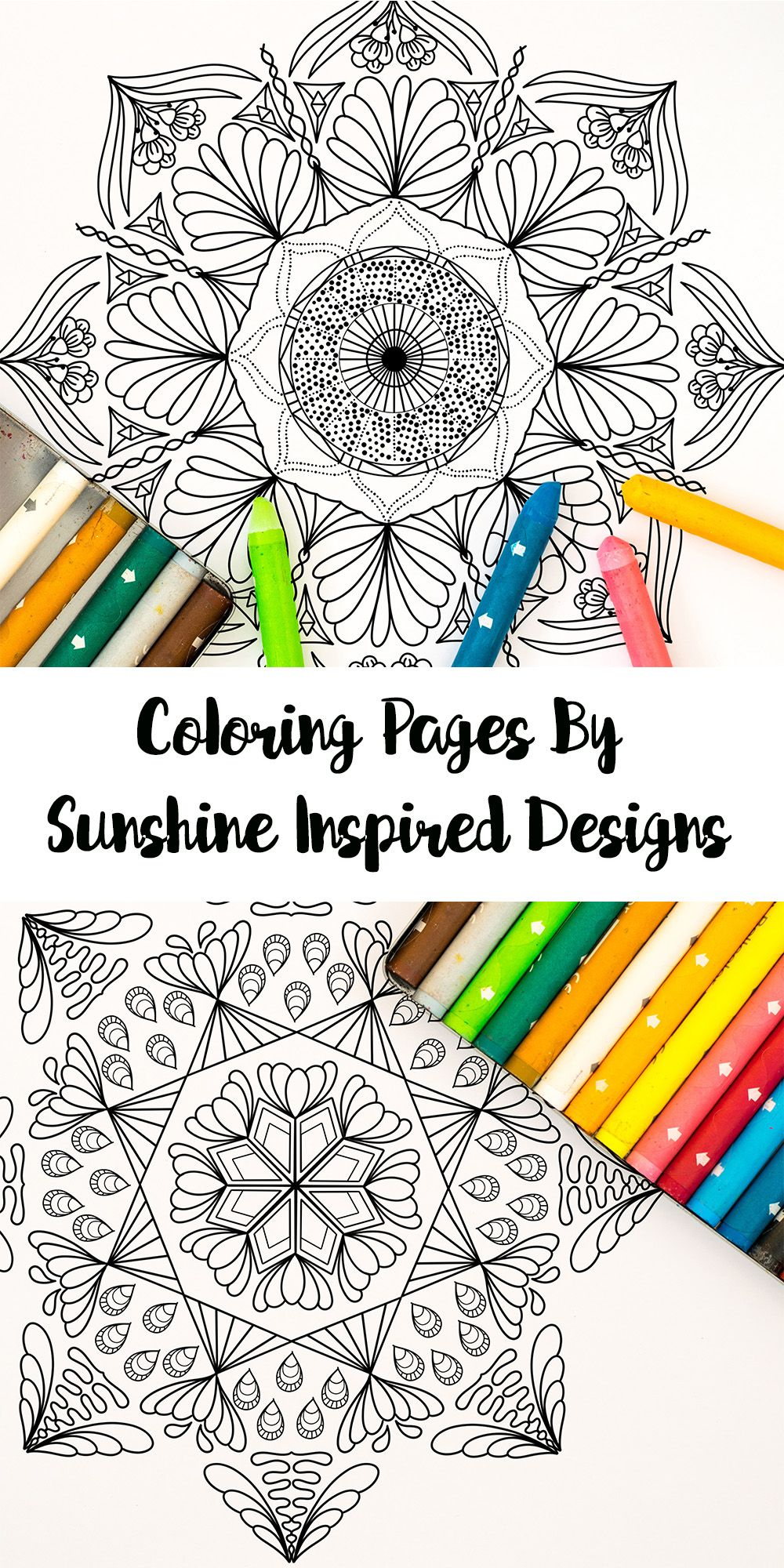 Printable Mandala Coloring Page from Sunshine Inspired ...
