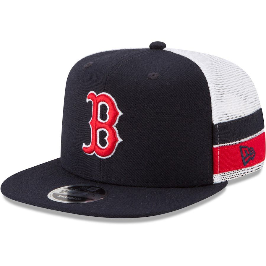 buy online 8d90e 85189 Men s Boston Red Sox New Era Navy Striped Side Lineup 9FIFTY Adjustable Hat,  Your Price   29.99