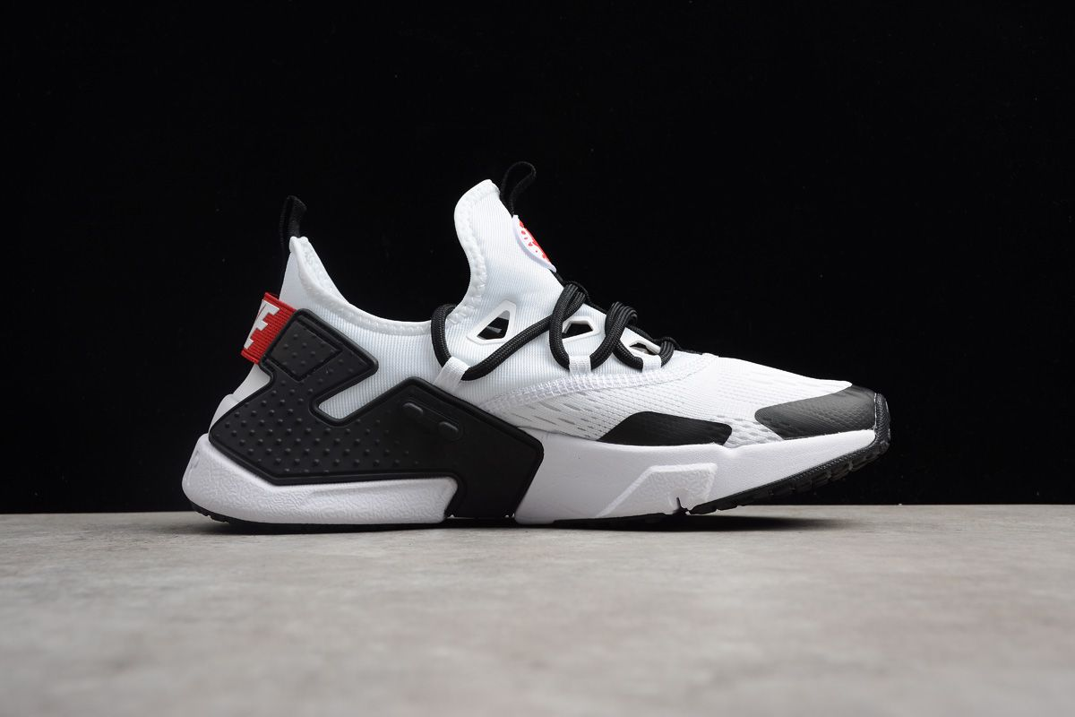 9d83dd8a147a Men s Nike Air Huarache Drift BR White Black-Red Running Shoes ...