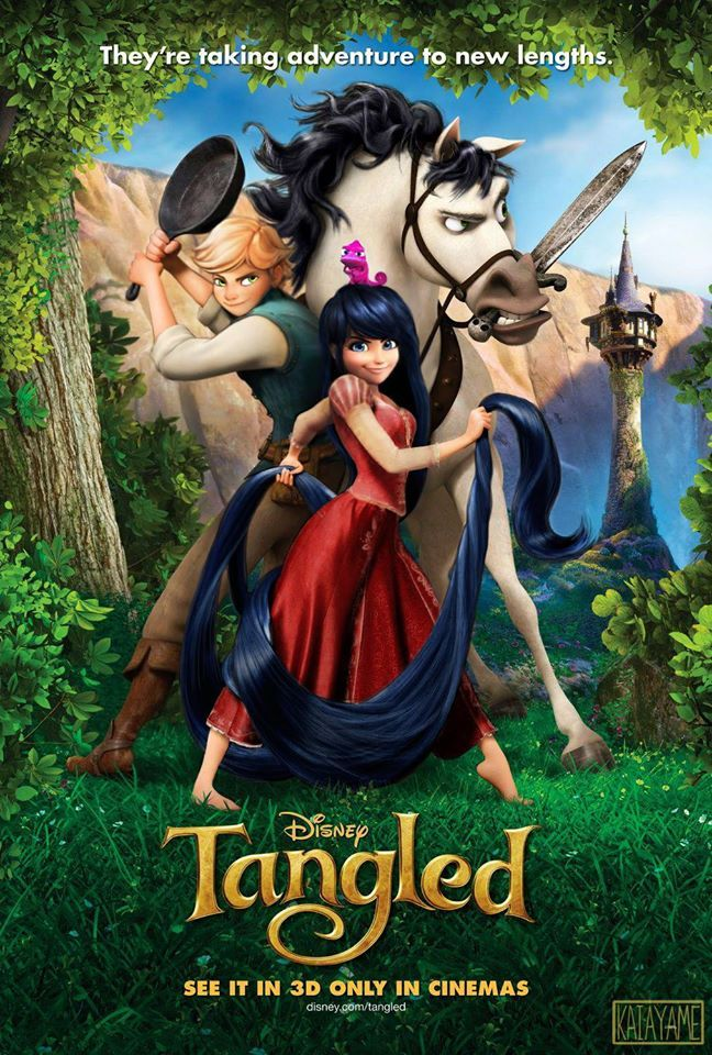 (Tangled!Miraculous: Tales of Ladybug and Cat Noir) Adrien/Marinette