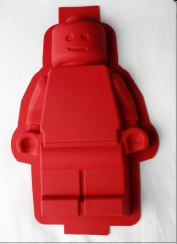 Lego minifigure silicone cake pan birthday party chocolate color ...