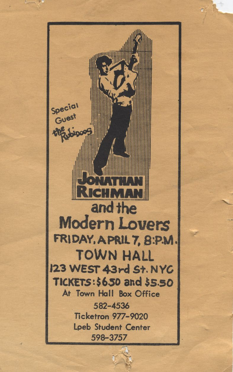 Happy Birthday Jonathan Richman Jonathan Richman The Modern Lovers Rich Man