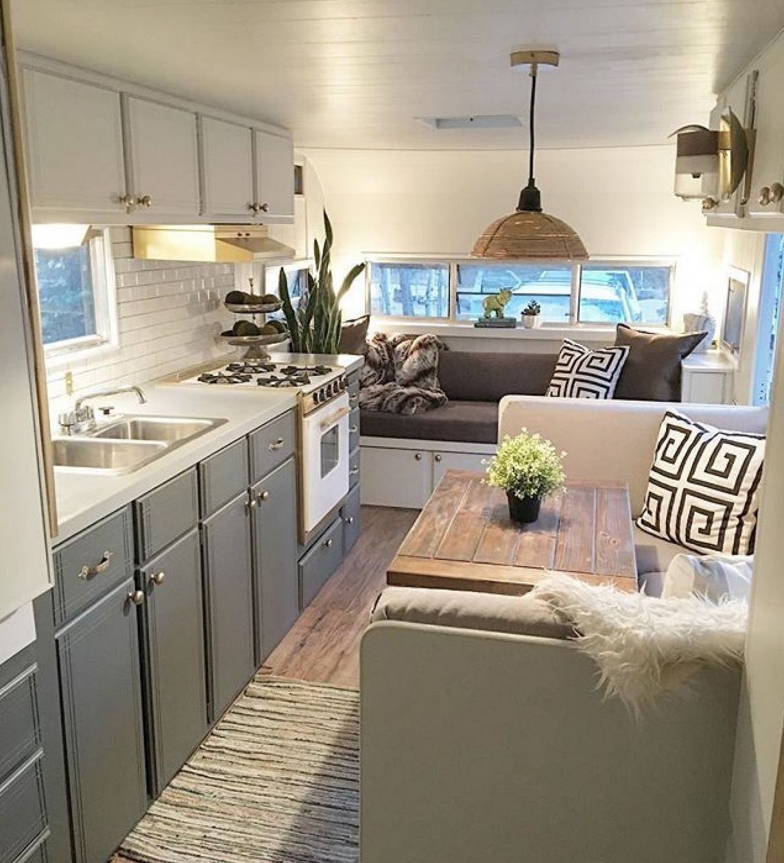 Dramatic rv camper makeover for full time traveling also best images in rh pinterest