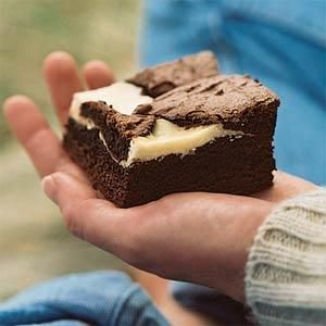 Chocolate-Fromage Blanc Brownies Recipe | MyRecipes.com