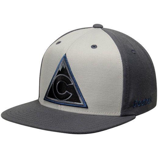 online retailer 70e8e cf437 Reebok Colorado Avalanche Gray Crosscheck Snapback ...