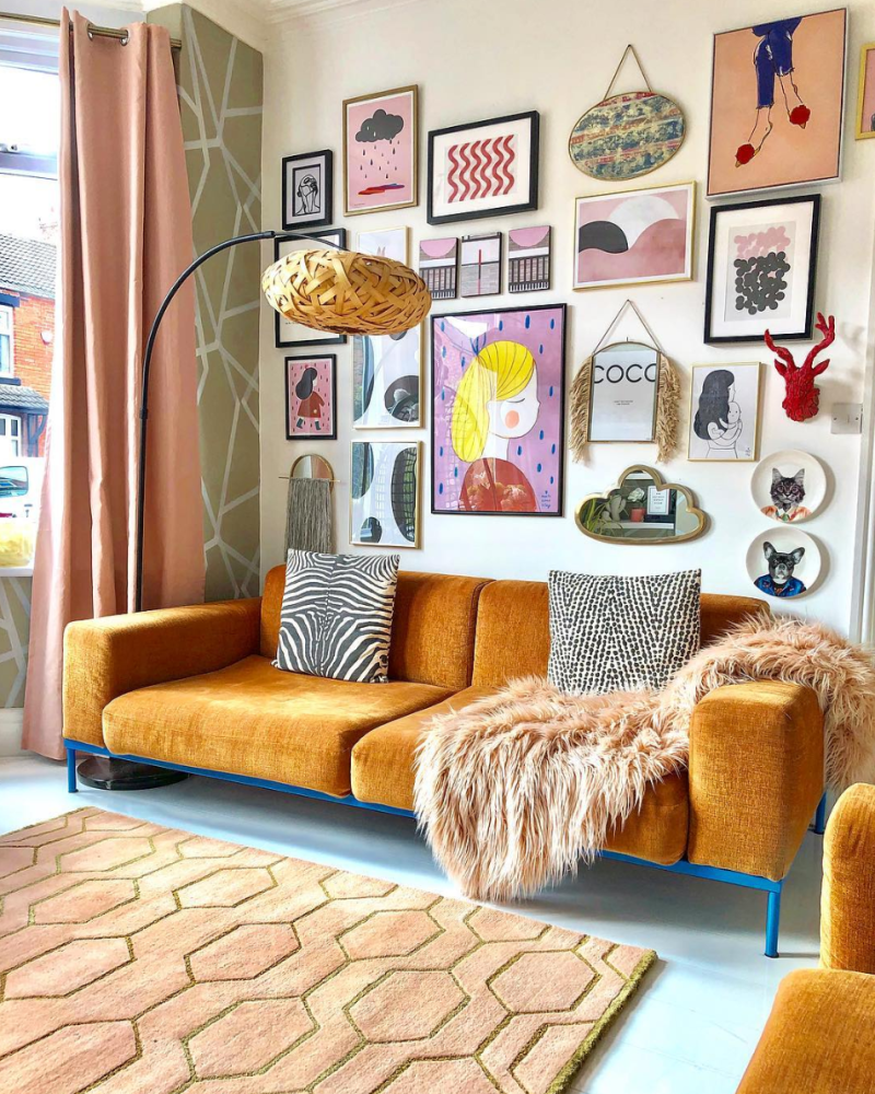 73 Eclectic Living Room Decor Ideas: 12 Reasons To Get On The Ochre Color Trend