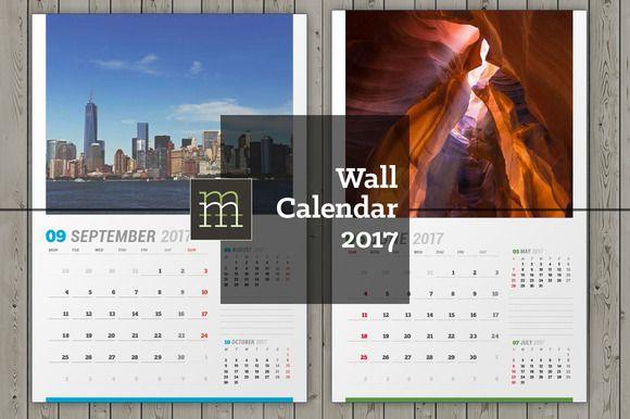 Wall Calendar 2017 Wc15 Creativework247 Stationery Design