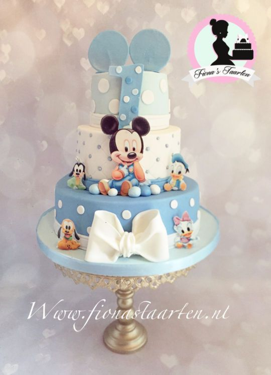 1st Birthday Baby Mickey Mouse Baby Mickey Cake Baby Mickey Mouse Cake Mickey Mouse Birthday Cake