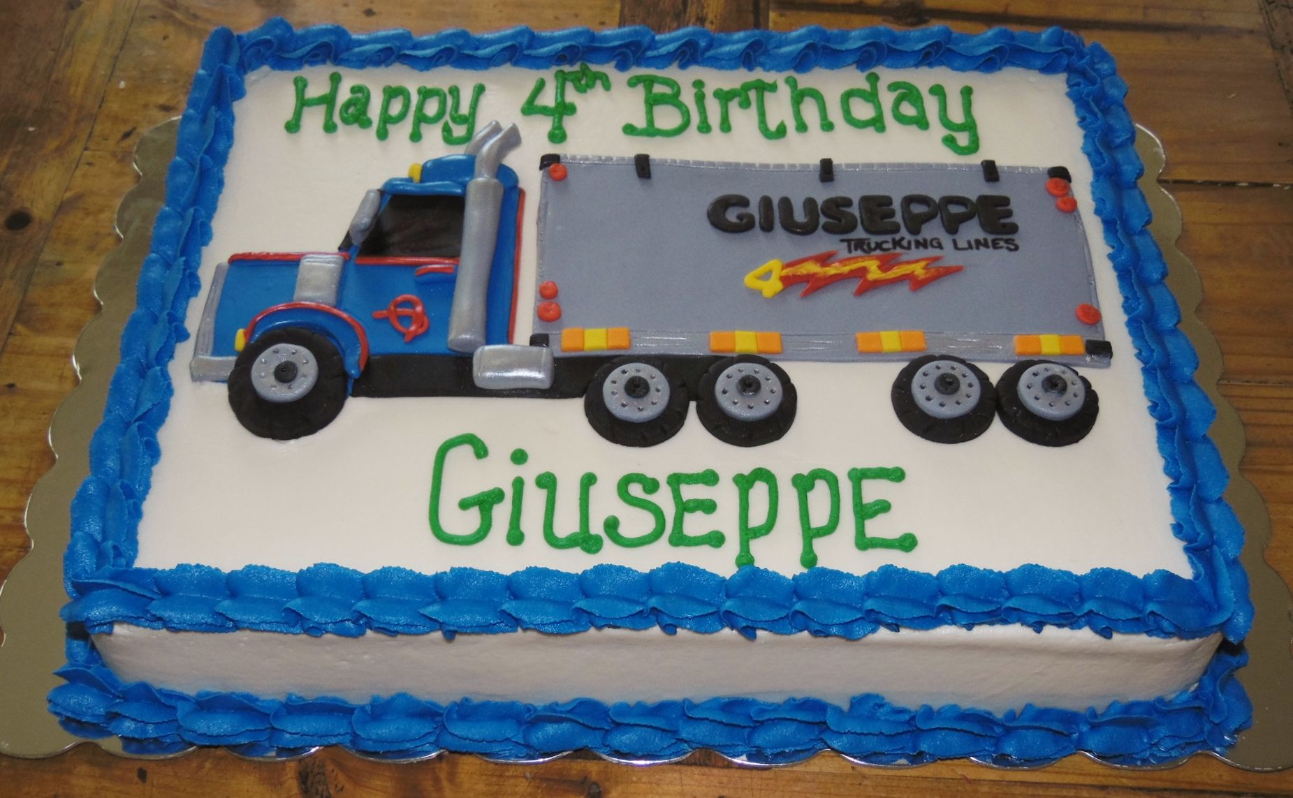Big Rig Tractor Trailer Birthday Cake Pastel Pinterest Rigs
