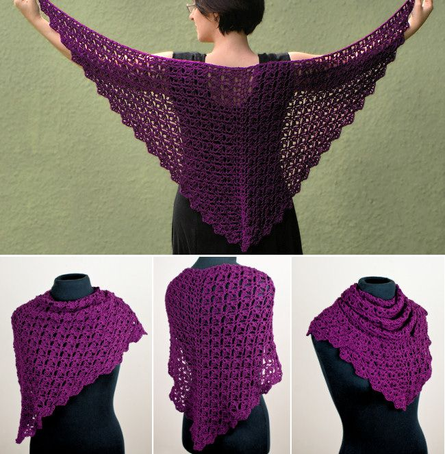 Planetjune By June Gilbank Cascading Clusters Shawl Crochet