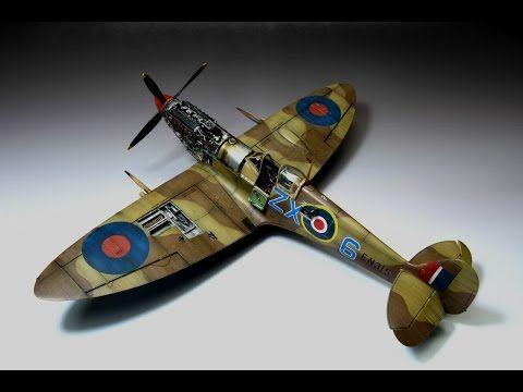 Spitfire Mk Ixc Eduard 1 48 Stanisław Skalski Step By Step Youtube Model Airplanes Master Class Painting