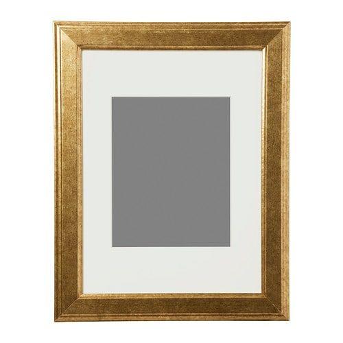 Virserum Frame Gold 12x16 Ikea Ikea Frames Wall Frames Ikea Pictures