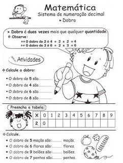 Lição De Casa Atividades Com Dobro E Metade Matemática Y Mas