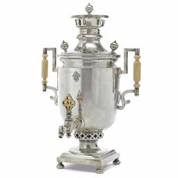 Faberge silver & ivory samovar, St Petersburg, c1900